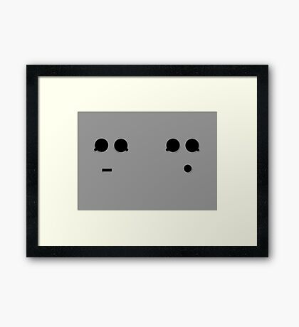 SASSY CYBERMEN Framed Print