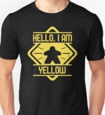 Hello I Am Yellow Meeple Board Games Addict Unisex T-Shirt