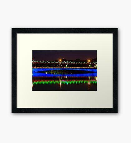 Single Arch - Ferdowsi Bridge - Esfahan - Iran Framed Print