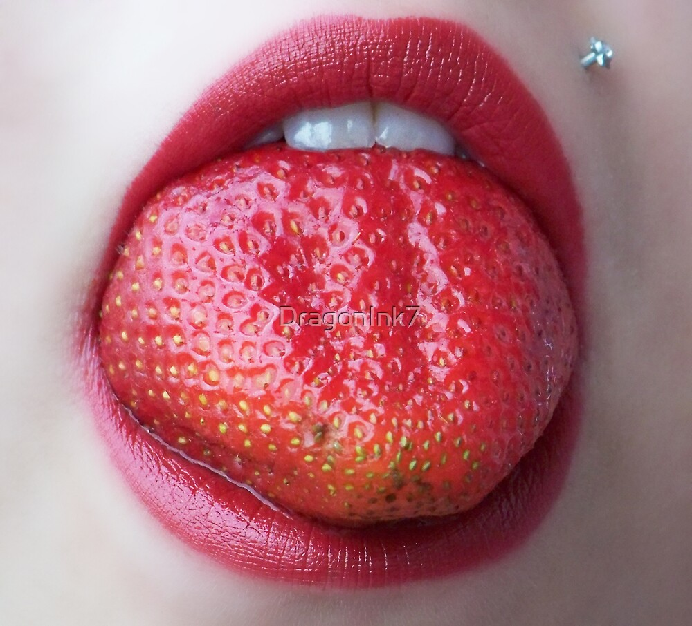 Strawberry Tongue by DragonInk7
