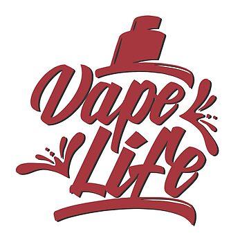 Vape Life - Vape Vaping Gift Shirt Tee by Goridan
