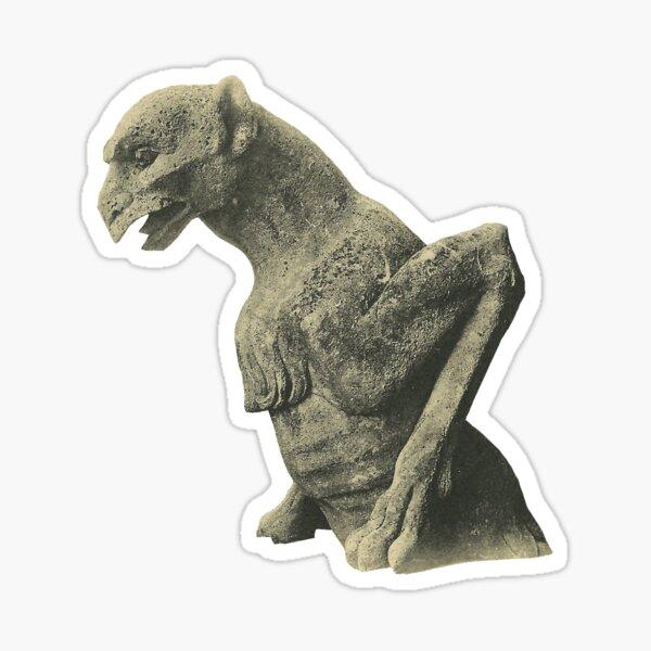 Gargoyl of Notre Dame- Creepy for Halloween Sticker