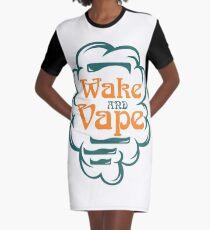 Wake And Vape - Vape Vaping Gift Shirt Tee Graphic T-Shirt Dress