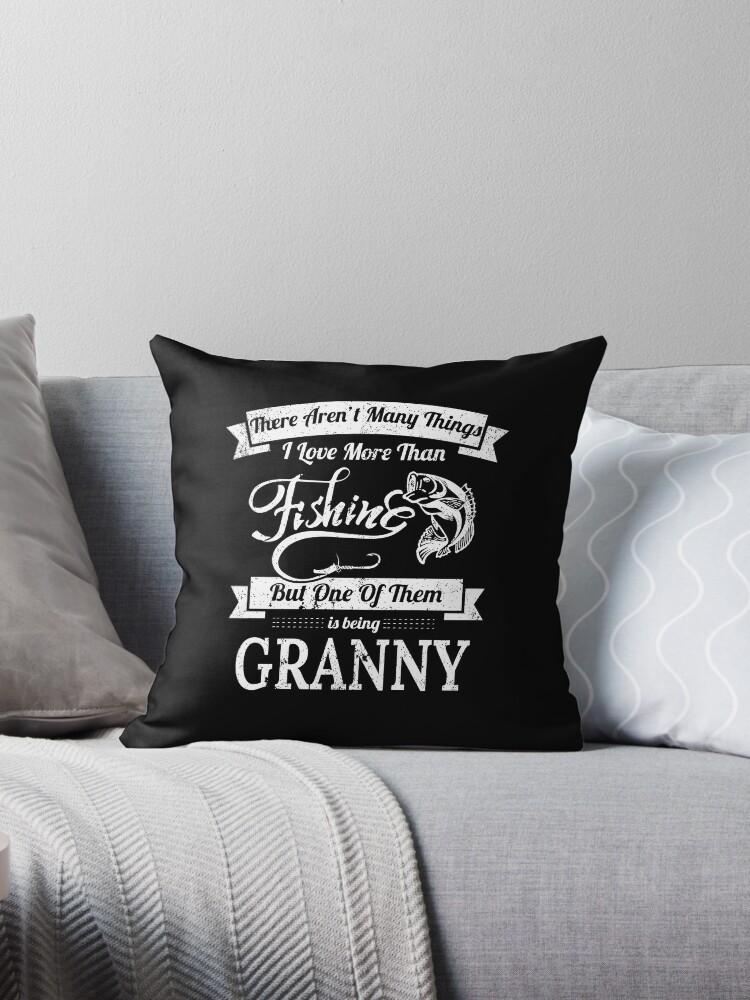 Love Fishing Being Granny Women Bass Fishing Shirts by shoppzee