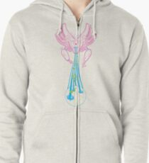 Machinichromatic - Healing the world one note at a time Zipped Hoodie
