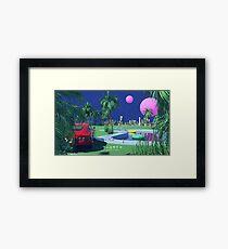 Poolside Pop Art Framed Print