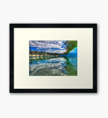Water Level - MacCallum Pool - Cremorne Point - Sydney - Australia Framed Print