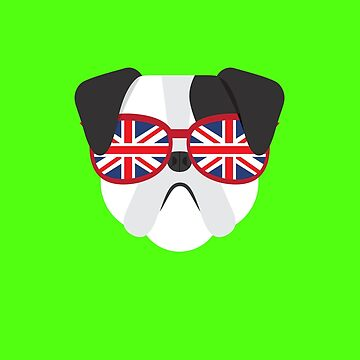 Awesome British Bulldog t-shirt with Glasses and Hipster Style by cendav