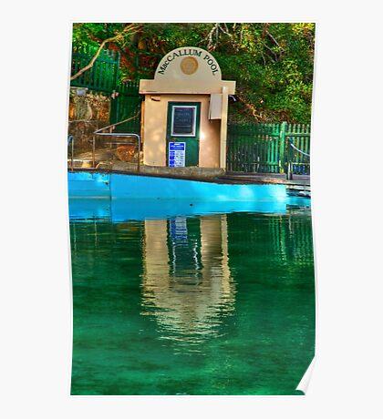 Pool Hut - MacCallum Pool - Cremorne Point - Sydney Australia Poster
