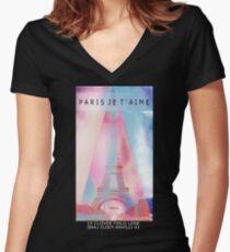 Paris lover Women's Fitted V-Neck T-Shirt