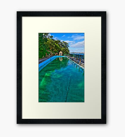 MacCallum Pool - Cremorne Point - Sydney - Australia Framed Print