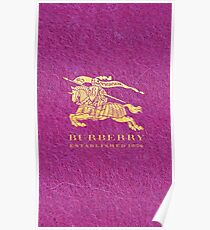 Purple Burberry Poster