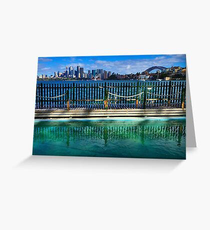 Pool With A View - Cremorne - Sydney Australia Greeting Card