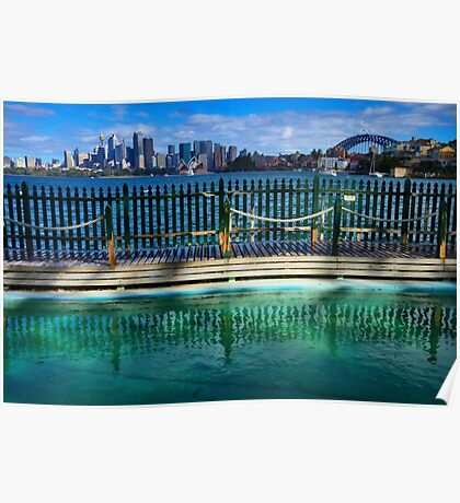 Pool With A View - Cremorne - Sydney Australia Poster