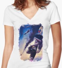 WW2 Propaganda Poster Reproduction Women's Fitted V-Neck T-Shirt