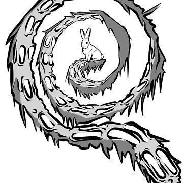 Follow the White Rabbit (Black/White) - Qanon by GreatAwakening