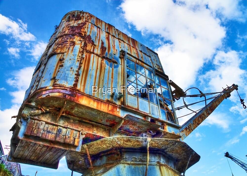 Grunge Crane - Cockatoo Island - Sydney by Bryan Freeman
