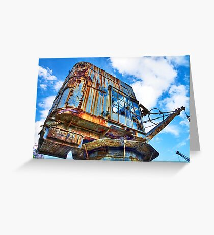 Grunge Crane - Cockatoo Island - Sydney Greeting Card