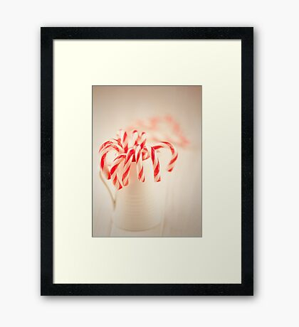 Christmas red and white Framed Print