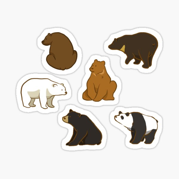 Bear With Me! Sticker