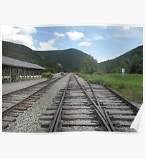The Tracks at the Crawford Notch Depot Poster