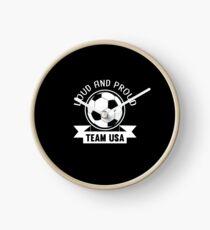 USA National Team Soccer Fan Shirt Clock