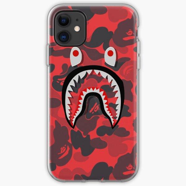 Red Bape Shark,  iPhone Soft Case