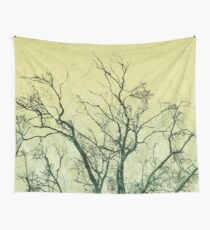 Winter Trees - Yellow Wall Tapestry