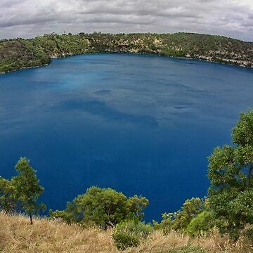 Blue Lake.  South Australia by AlexDu
