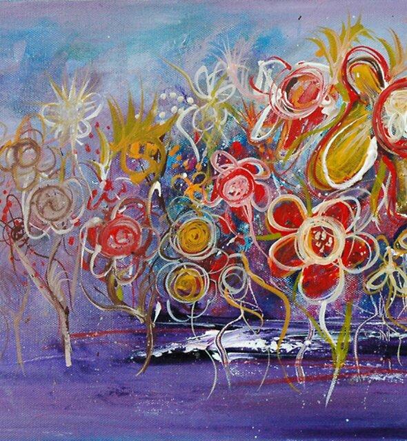 Moonlight Wildflowers by Wendy Eriksson