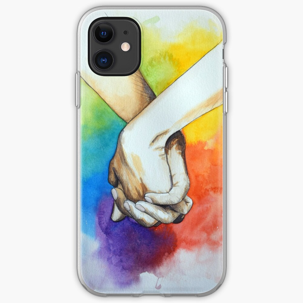 Holding hands | Love all | LGBT iPhone Case & Cover