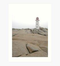 far away lighthouse Art Print