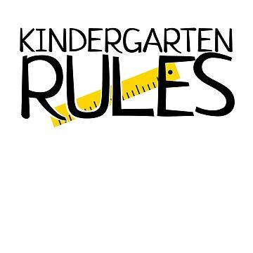 'Kindergarten Rules' Cute Kindergarten Teacher Gift by leyogi