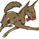 weird dog by markdalderup