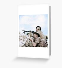 British soldiers in Tunisia, 27 April 1943 Greeting Card