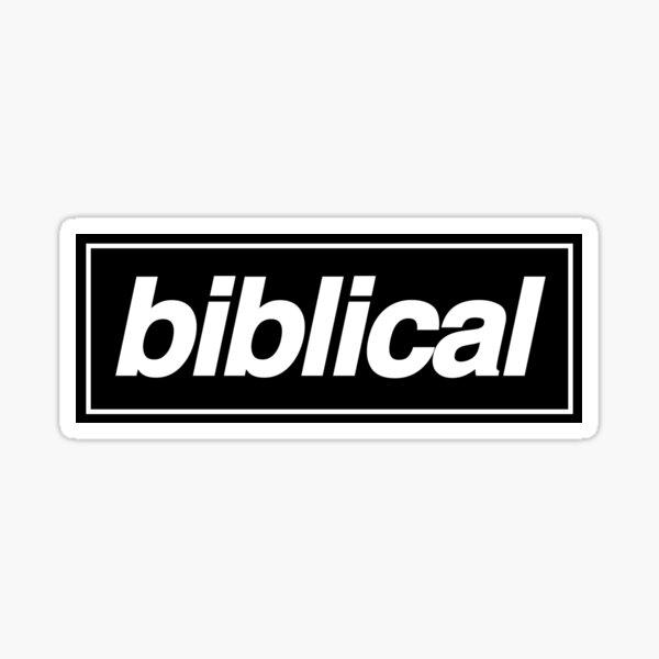 Liam Gallagher Inspired - Biblical Sticker