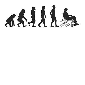 'Evolution Of Wheelchair' Hilarous Wheelchair Gift by leyogi