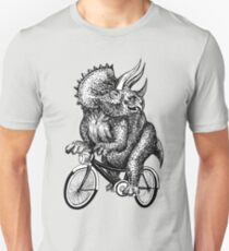 Triceratops Ride Bicycle  T-Shirt