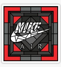 Air Stained Glass Sneaker Art Sticker