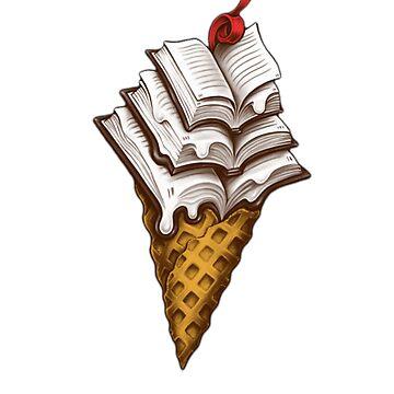 Ice Cream Books T-Shirt by HeyZReD