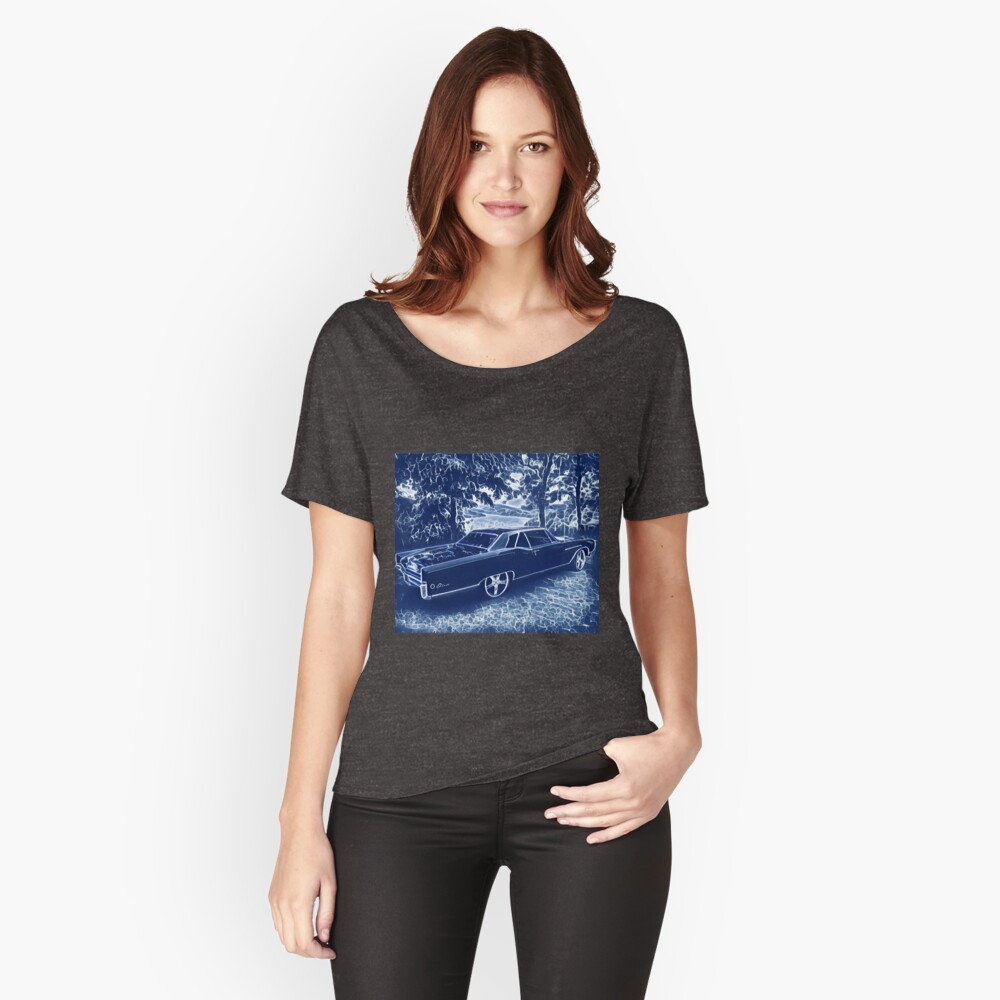 Buick Electra in Blue Electric Relaxed Fit T-Shirt