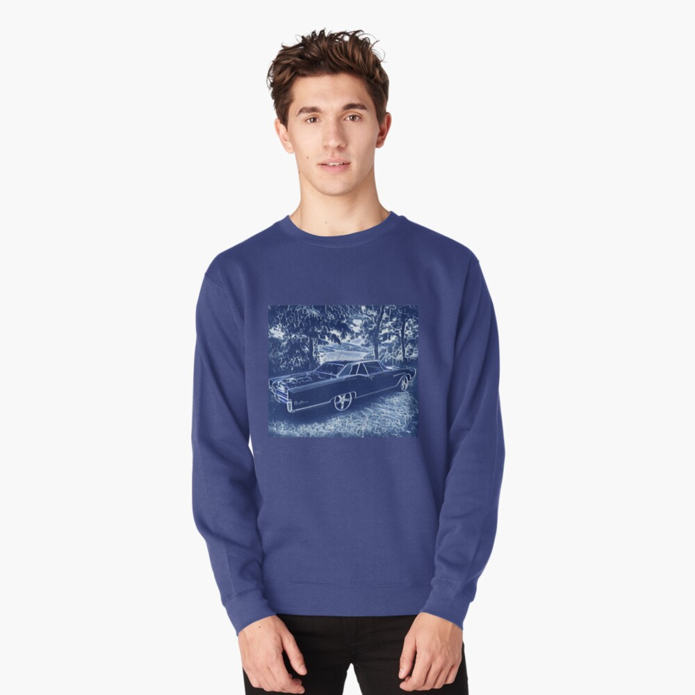 Buick Electra in Blue Electric Pullover Sweatshirt