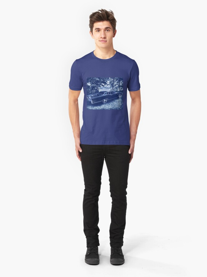 Alternate view of Buick Electra in Blue Electric Slim Fit T-Shirt