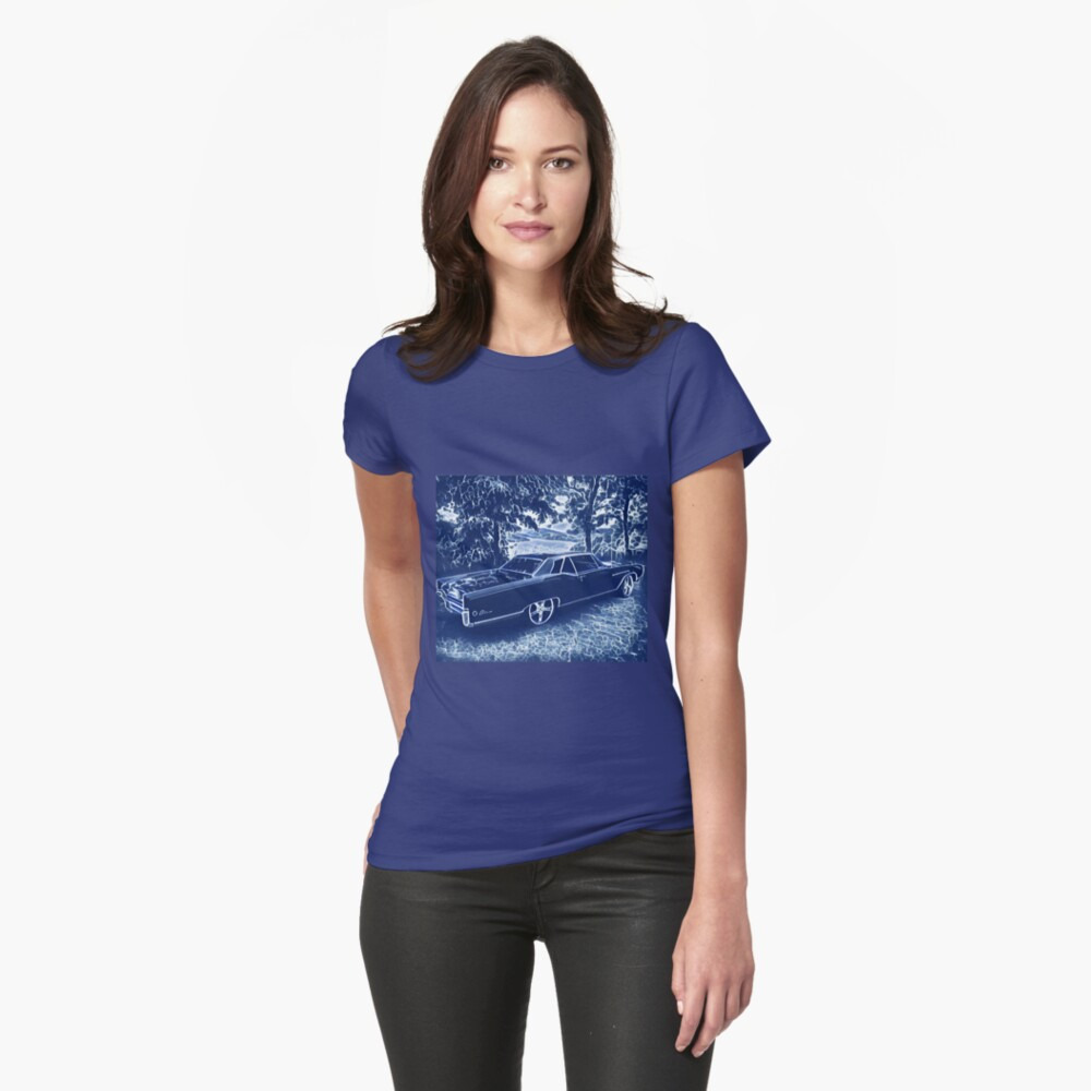 Buick Electra in Blue Electric Fitted T-Shirt