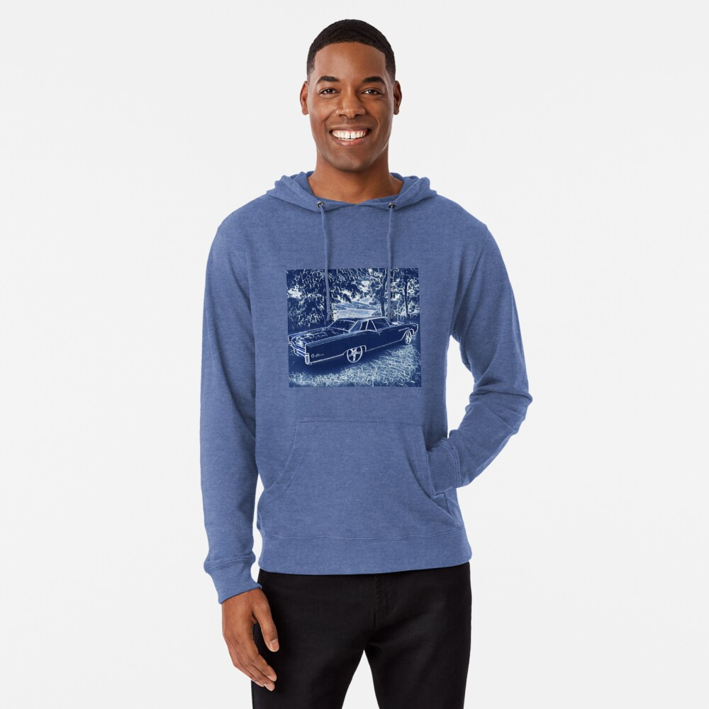 Buick Electra in Blue Electric Lightweight Hoodie