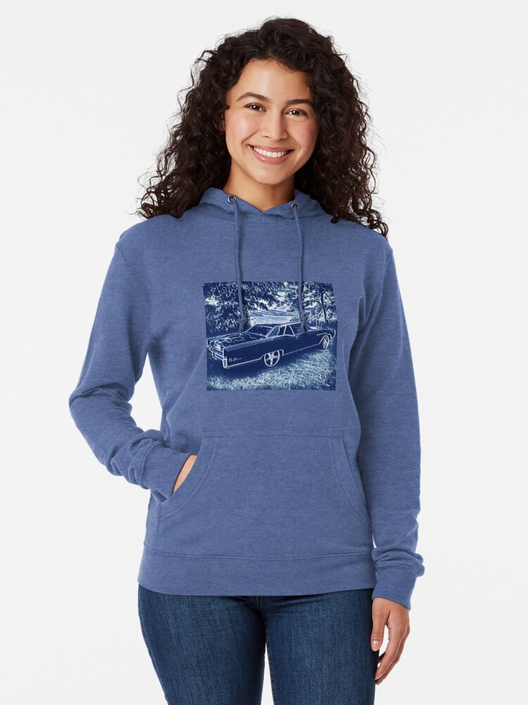 Alternate view of Buick Electra in Blue Electric Lightweight Hoodie