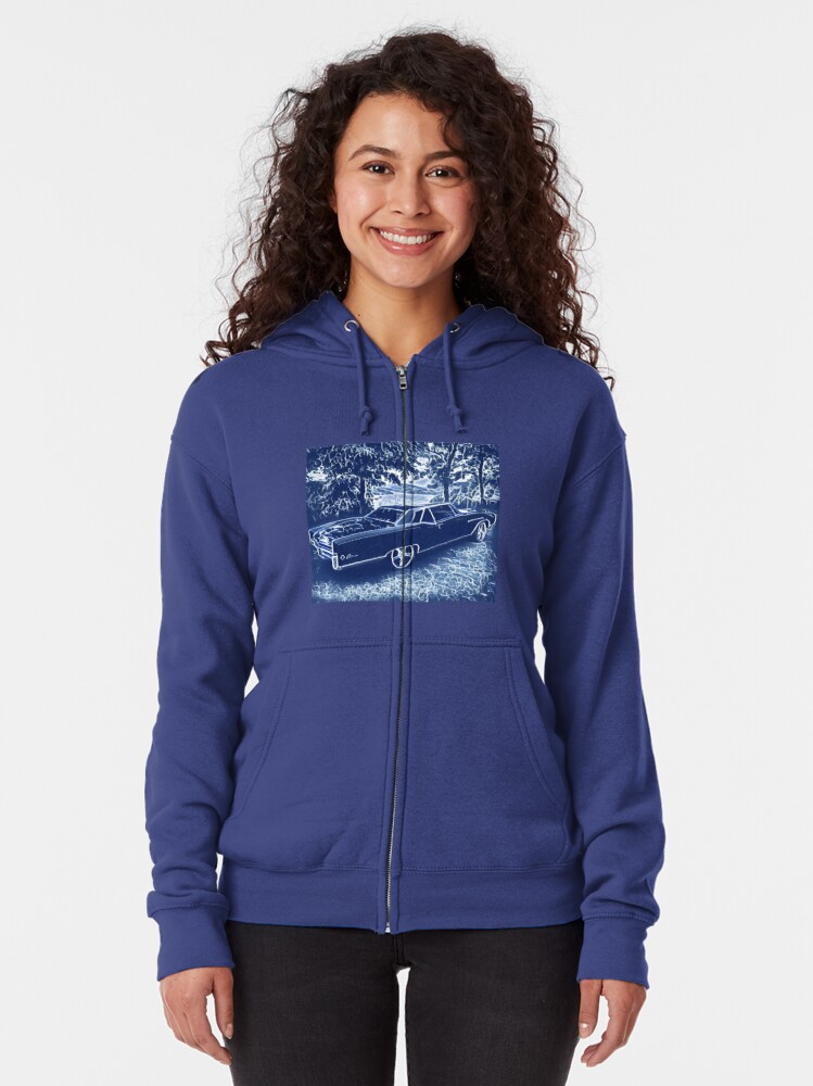 Alternate view of Buick Electra in Blue Electric Zipped Hoodie