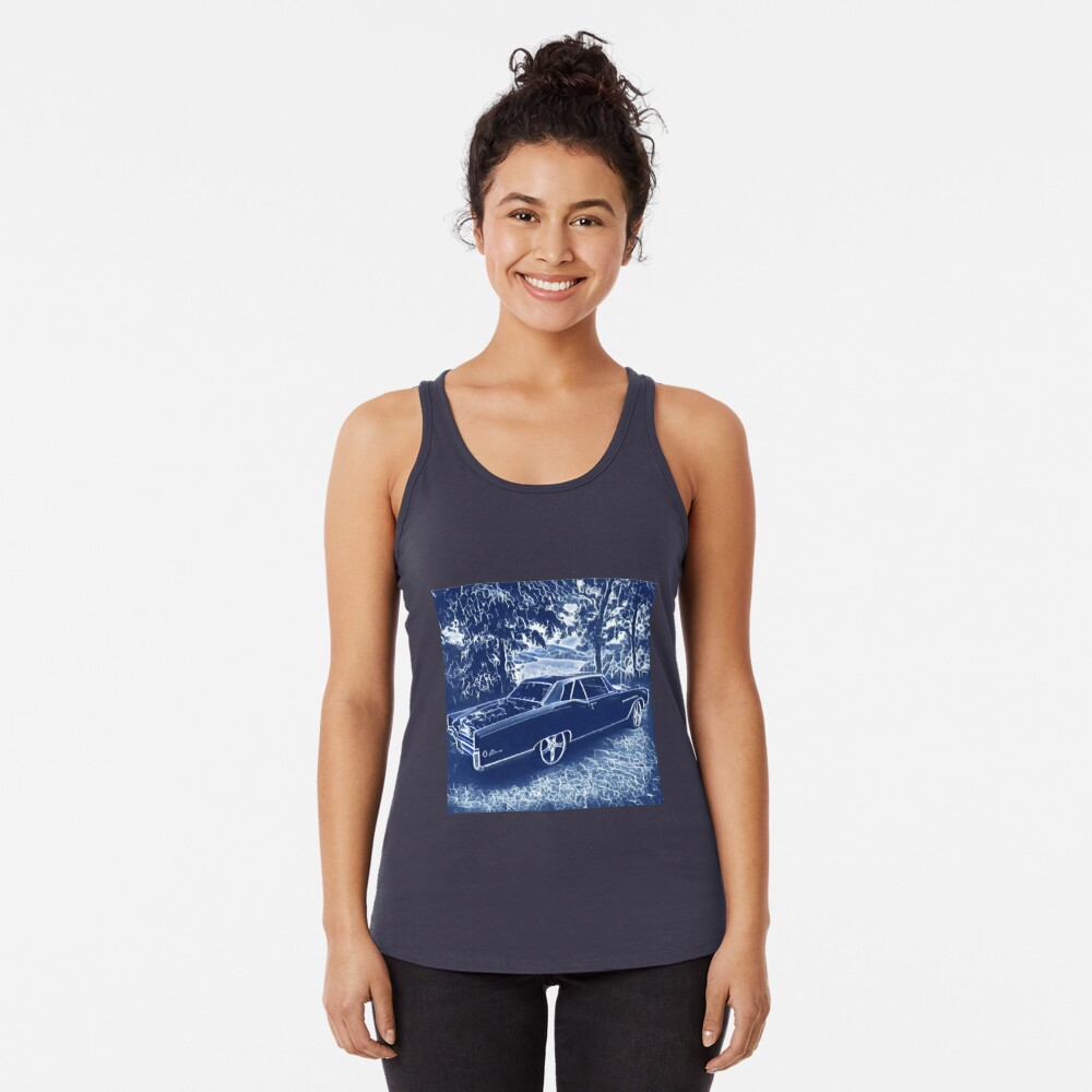 Buick Electra in Blue Electric Racerback Tank Top