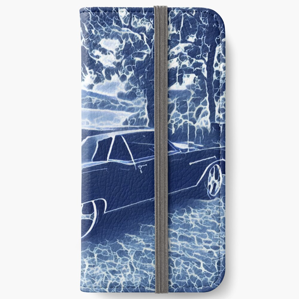 Buick Electra in Blue Electric iPhone Wallet