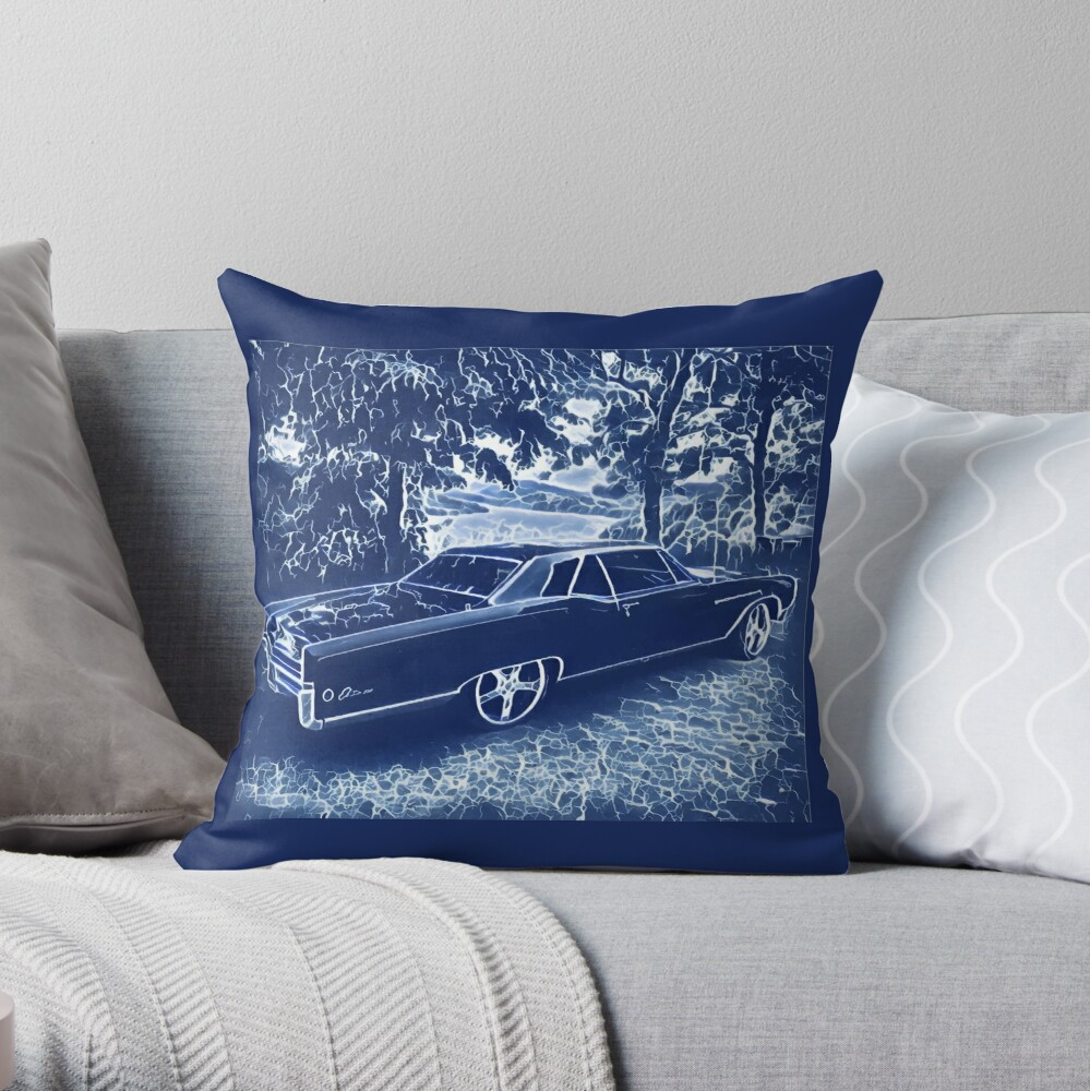 Buick Electra in Blue Electric Throw Pillow